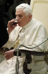 Pope drinking