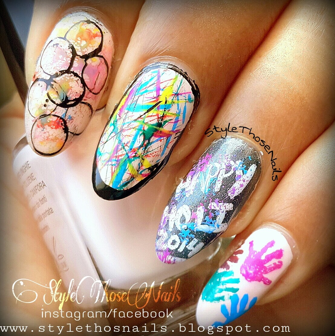 Style Those Nails Holi Sttricks Day Nail Art