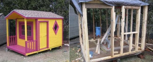 Casa de juguete para vuestros hijos - Casas con palets de madera ...