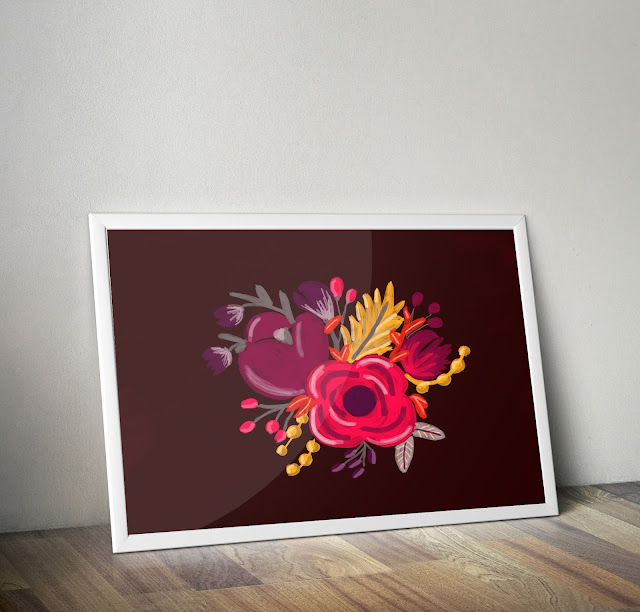 best decoration flowers print