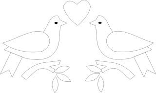 Riscos para patchwork e pintura de Pássaros