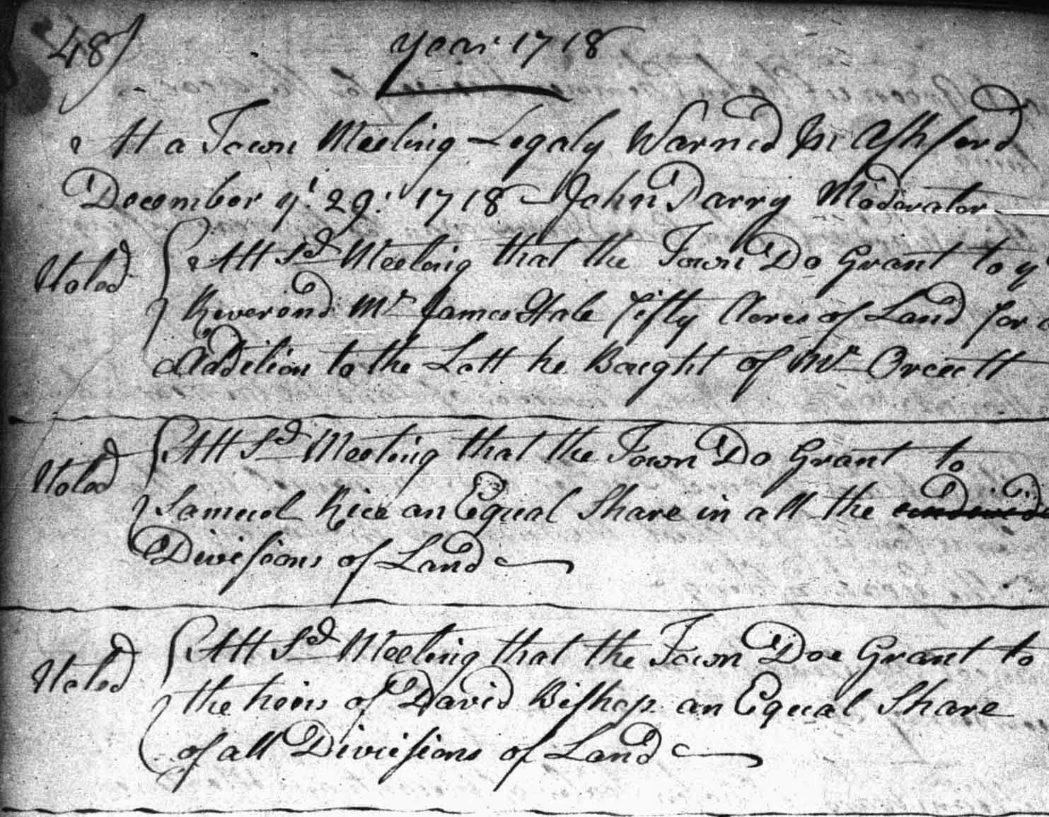 proprietors records ashford windham county connecticut 1705 1770 page 48 click to enlarge
