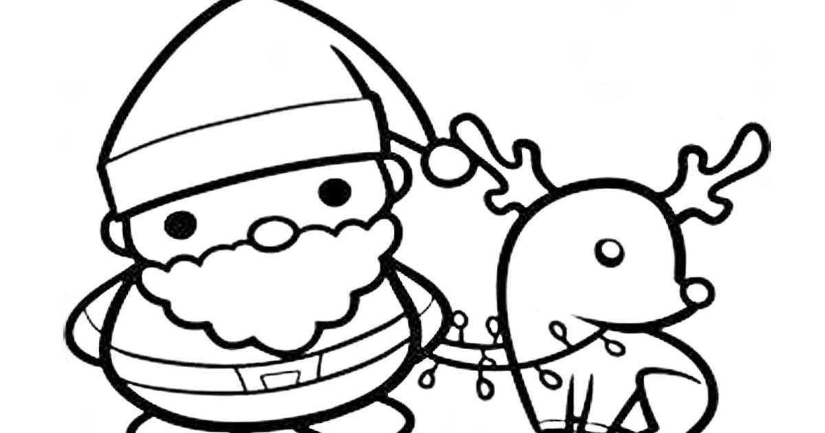 Perfecto Santa Y Rudolph Para Colorear Adorno - Dibujos Para ...