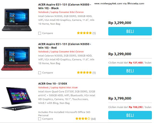 Harga Netbook Acer Terbaru (Nov 2015), Masih 3 Jutaan Loh!