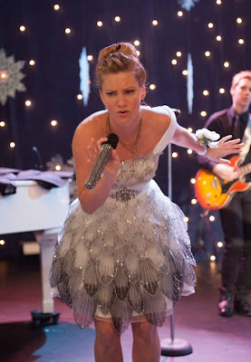 "Brittany's Strapless Sheer Flared Dress by Interlude Glee Season 4, Episode 11: ""Sadie Hawkins"""