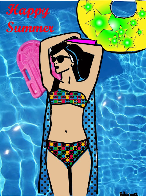 Illustration happy summer