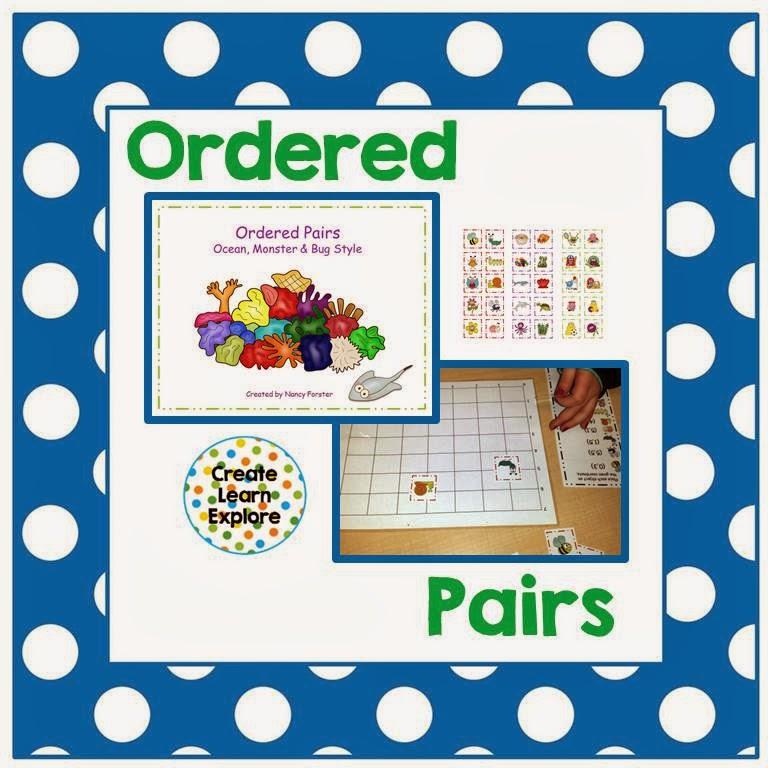 http://www.teacherspayteachers.com/Product/Ordered-Pairs-Ocean-Monster-Bug-Style-956149
