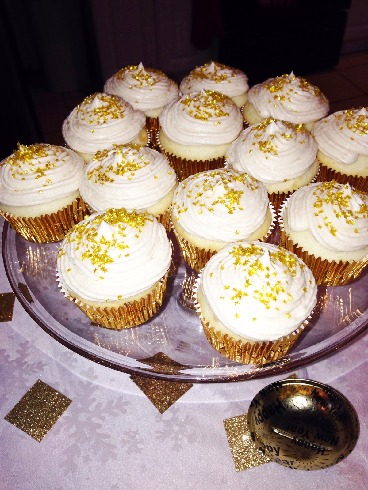 Champagne Cupcakes with Champagne Buttercream | Choosing Happy Blog