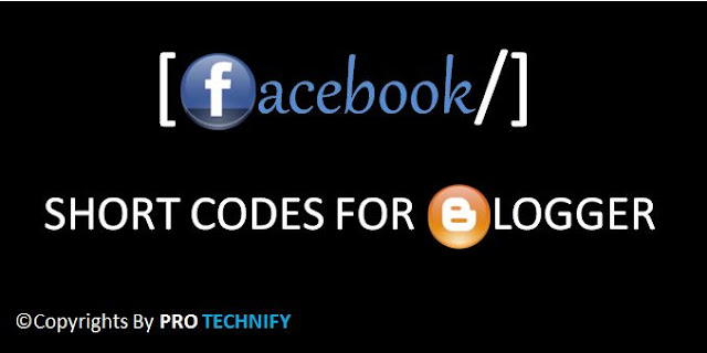Facebook shortcode for blogger blog