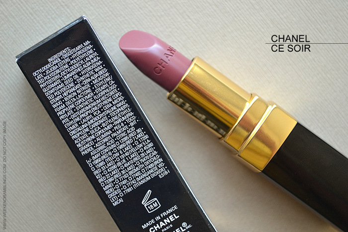 Chanel Ce Soir 51 Rouge Coco Lipstick Avant Premiere de Chanel Makeup Collection Swatch Review Photos FOTD Looks Ingredients Indian Darker Skin Beauty Blog