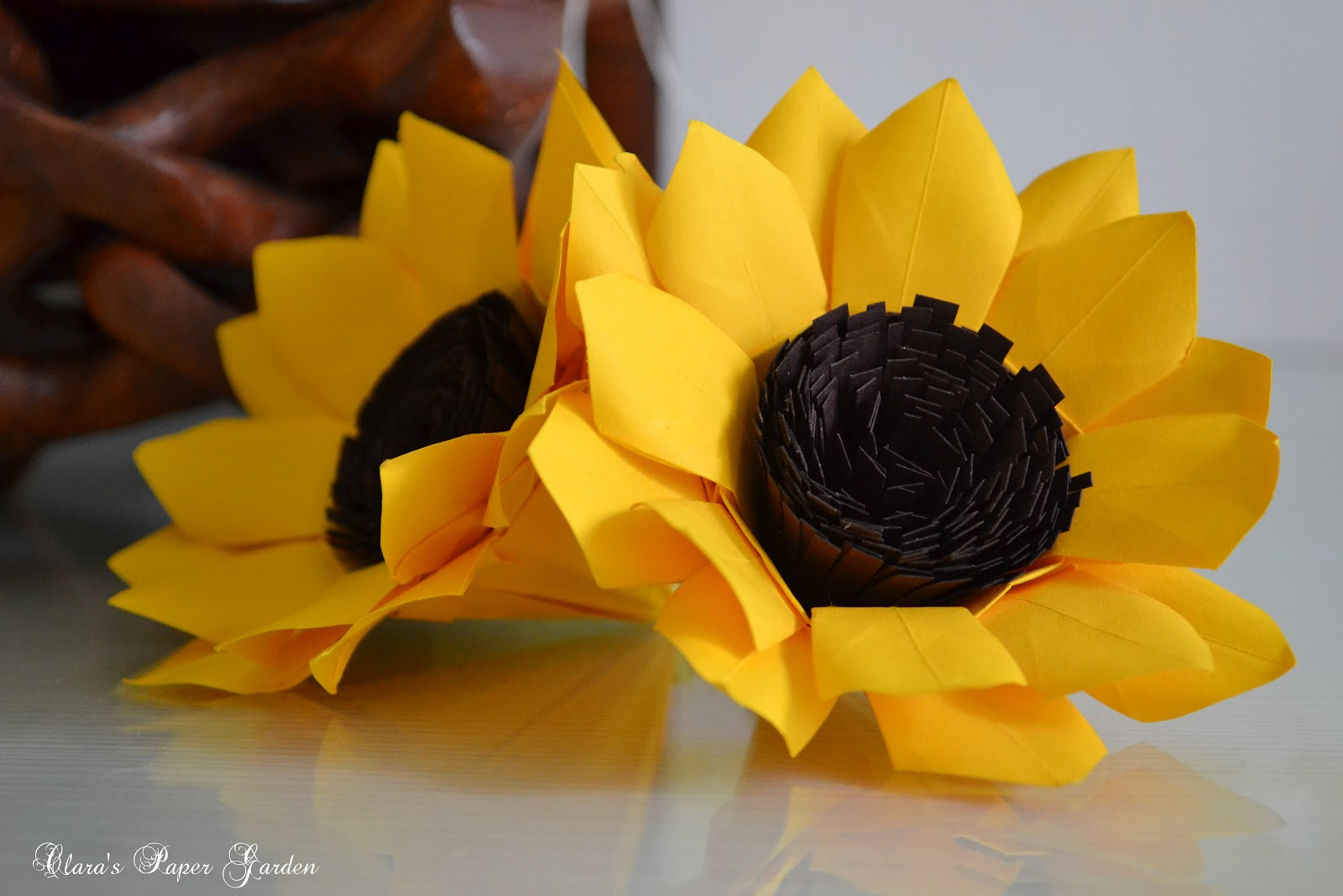 Lets Make Origami: Sunflower again