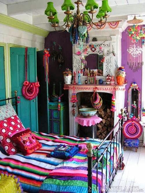 DECORACIÓN DE DORMITORIOS JUVENILES TEMÁTICOS  - DORMITORIOS HIPPIES vía http://dormitorioinfantil.blogspot.com/