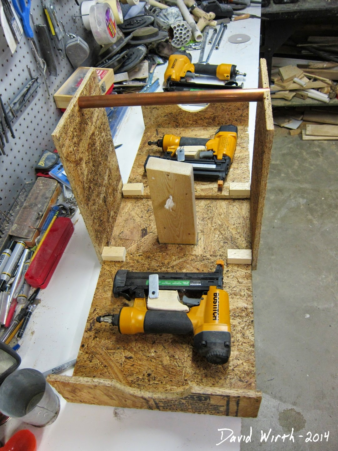 how to build a case, nail guns, 3, tool box, clamshell