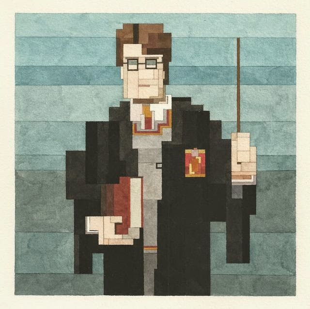 Adam Lister, acuarelas 8 bits, Harry Potter
