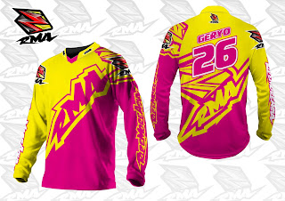 Motocross Trail Bike MTB BMX MX Enduro Cycling Jersey Custom Yellow