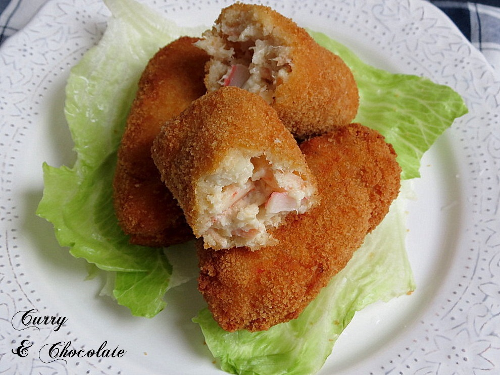 Tuna, salmon, shrimp and crab croquettes