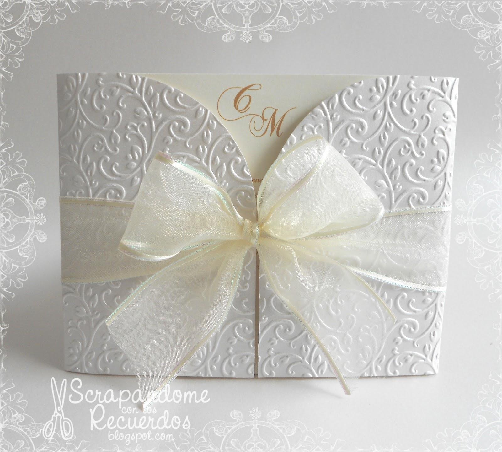 Scrapandome con los recuerdos una boda blanca - Modelos de tarjetas de boda ...