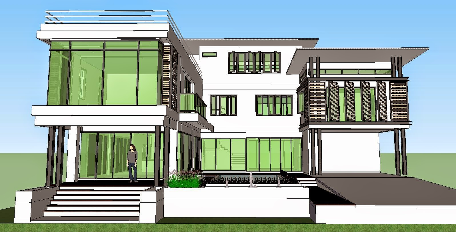 Modern House Model Sketchup Modern House