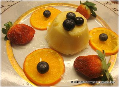 Bavarese  ala vaniglia con mandarancio caramellato