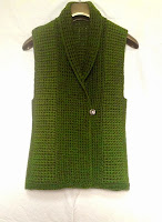 Crocheted gilet