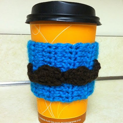 Free Crochet Pattern: Mustache Applique