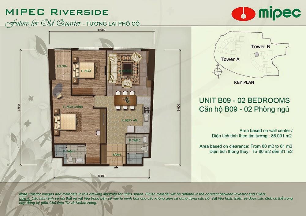 Căn B09 cư xá Mipec Riverside