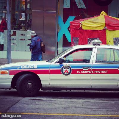 Police car in Toronto
