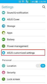 pengaturan cara screenshot mudah di Asus Zenfone dan fonepad
