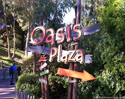 Oasis Plaza sign Six Flags Discovery Kingdom