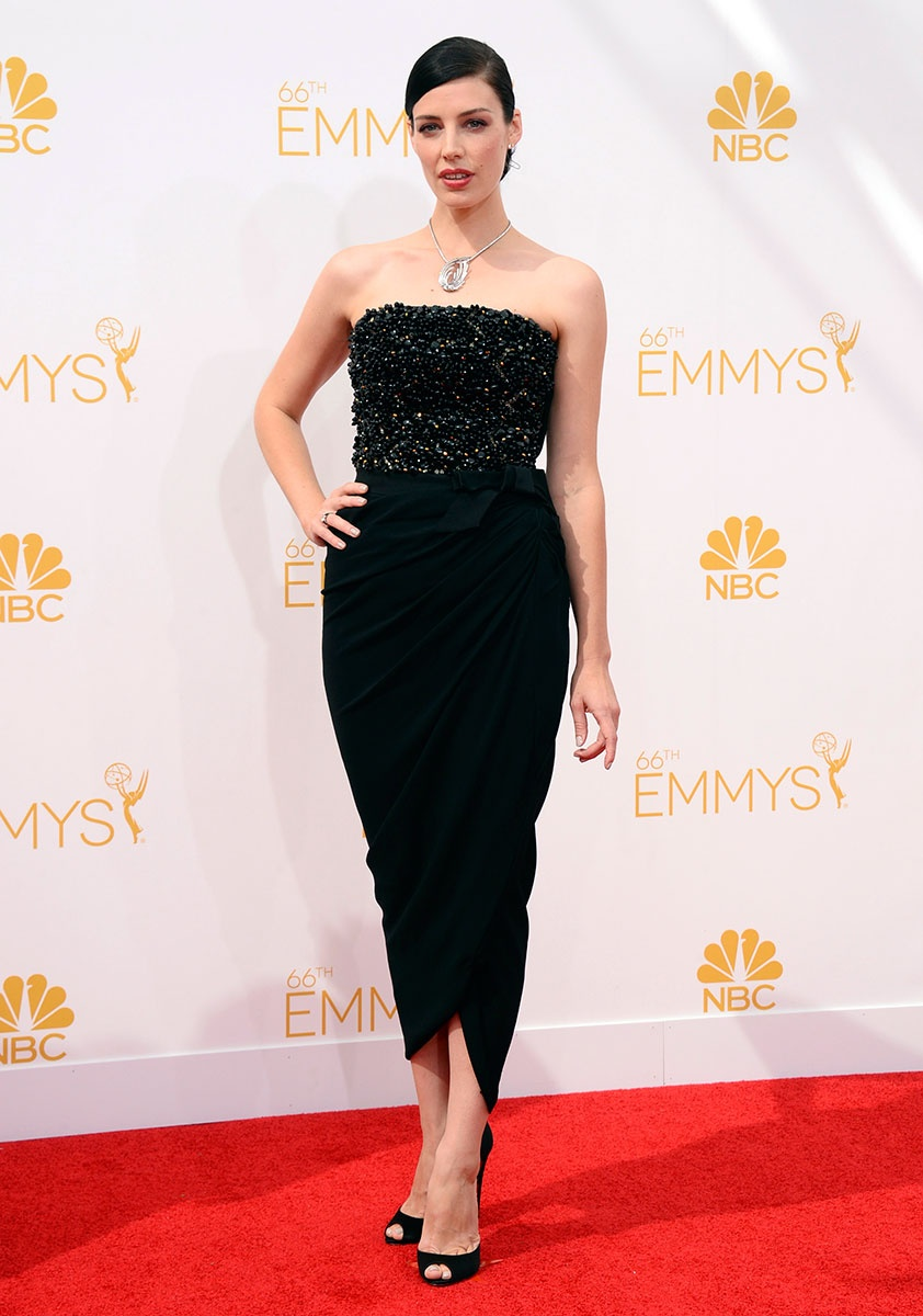 Jessica Pare in Lanvin at the Emmy Awards