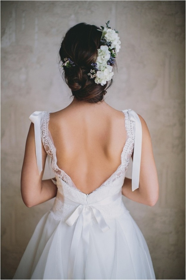 Hairstyles For Long Hair Backless Dress : BACKLESS WEDDING DRESS STYLES additionally Unique Wedding Hairstyle ...