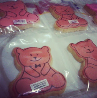 aqiqah baby fancy cookies sitting bear