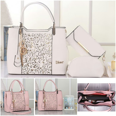 DIOR BAG ( 3 IN 1 SET ) - WHITE