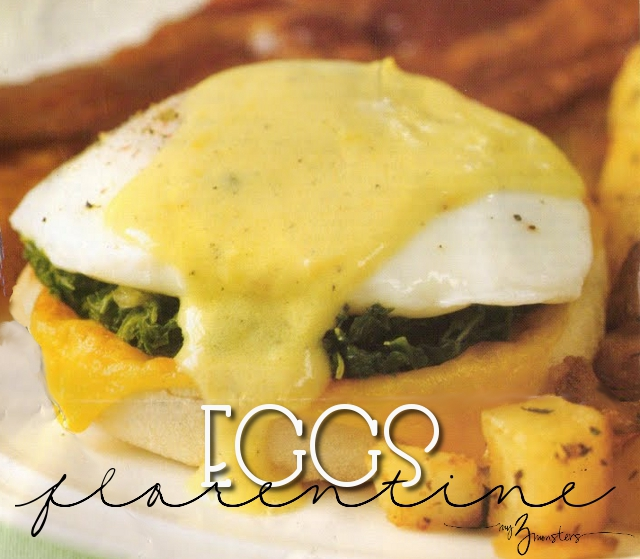 Easy Eggs Florentine Recipe at my3monsters.com