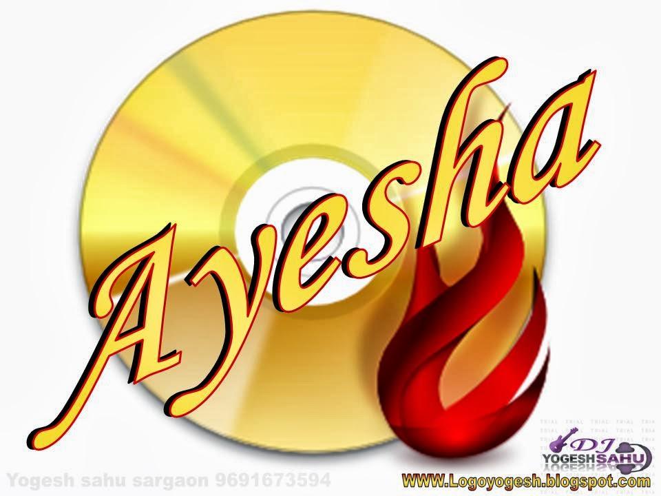 logo and name wallpaper ayesha logo