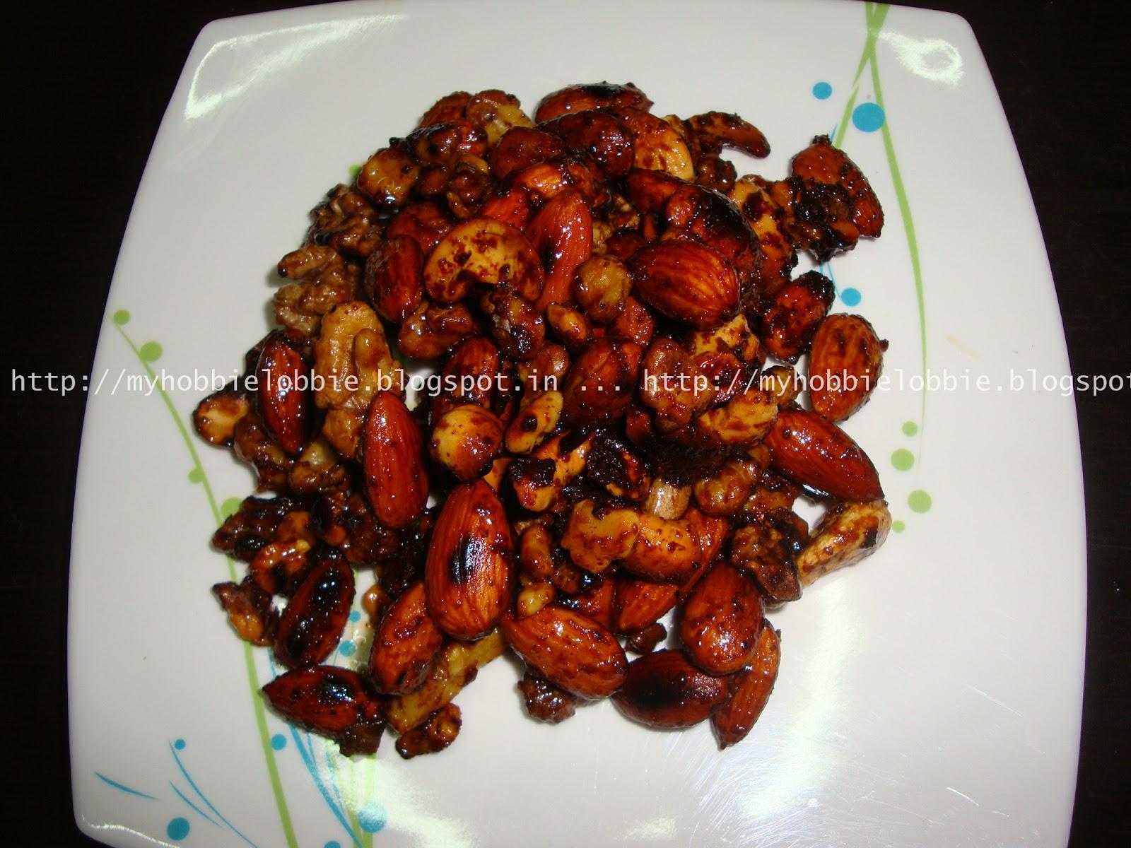 Spiced Candied Walnuts Recipe — Dishmaps