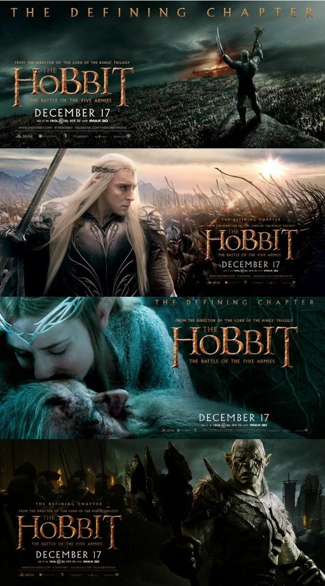Gandalf Hobbit fantasía navidades batallas ejércitos
