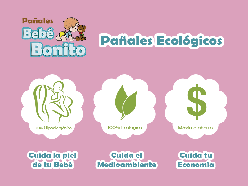 Pañales ecologicos Bebe Bonito