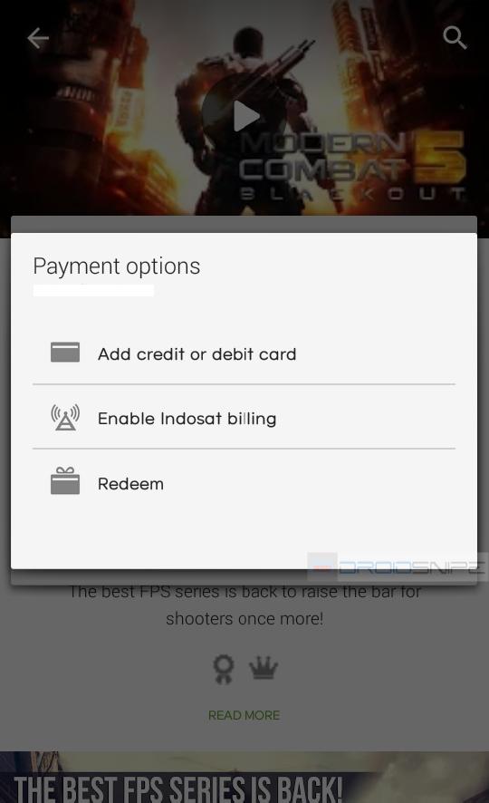 Description: Indosat Carrier Billing di Payment Option