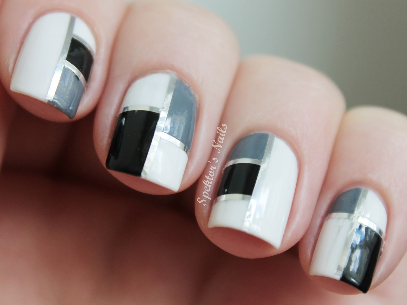 Nail Art Designs Using Striping Tape To Bend Light