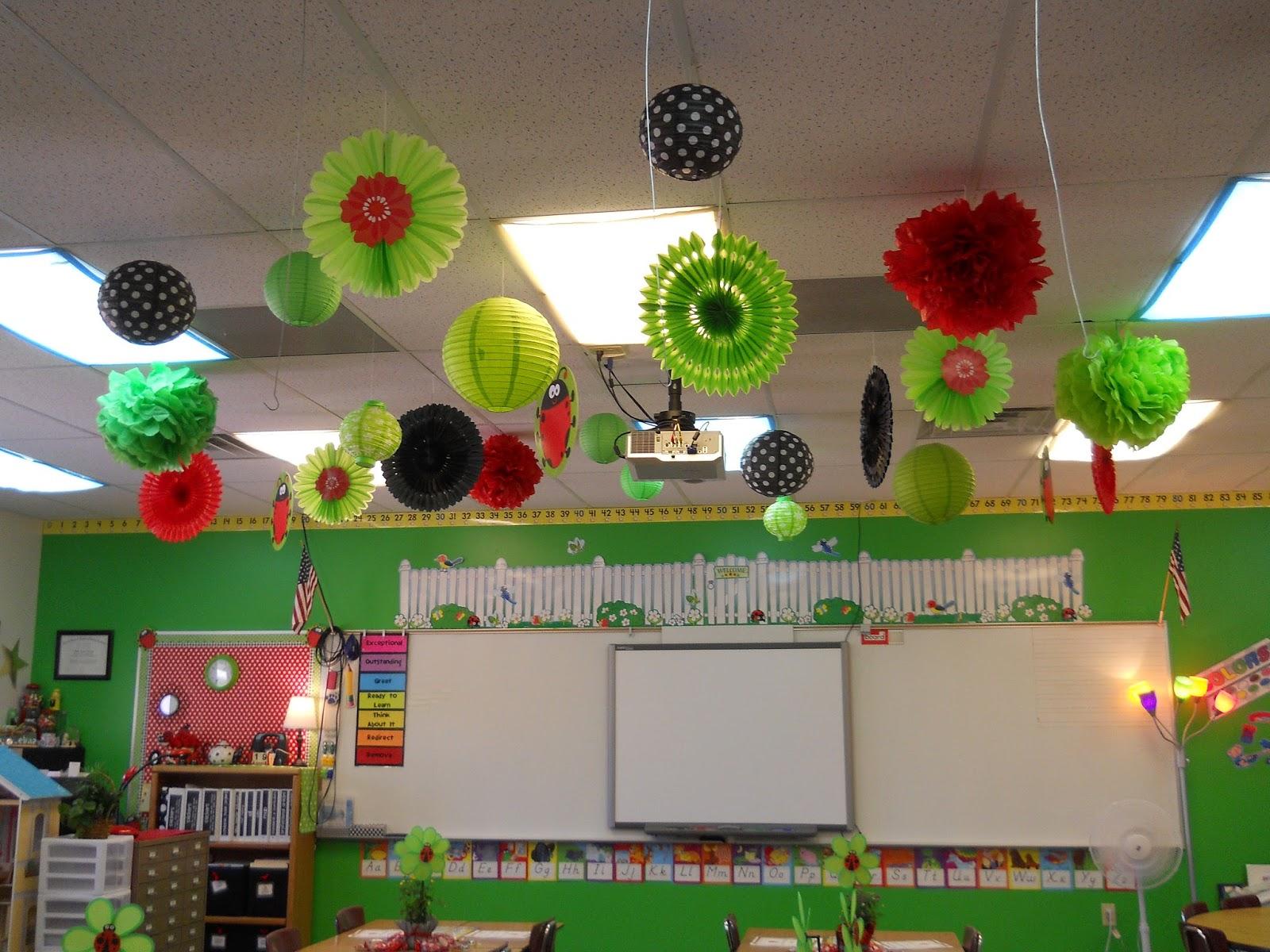 Classroom Hanging Decor ~ Nikkindergarten my  classroom ladybug theme
