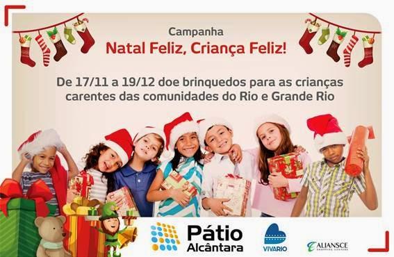 Pátio Alcântara e VivaRio promovem campanha 'Natal Feliz, Criança Feliz'