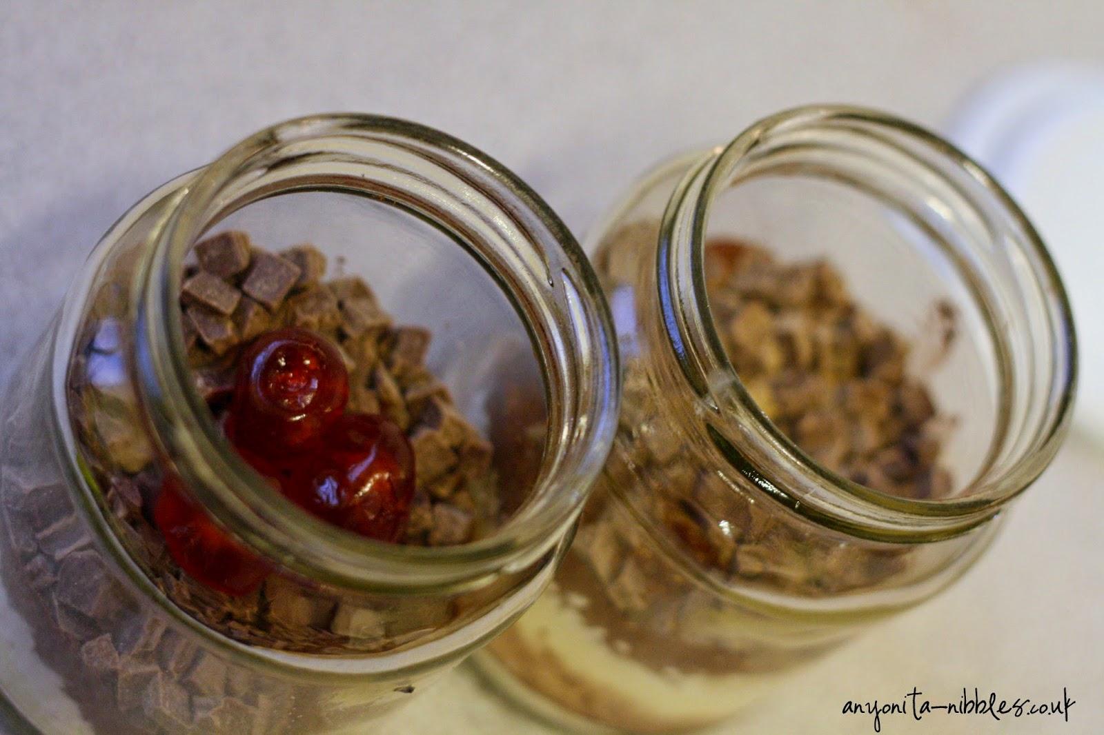 Two Jam Jar Cocoa Treats from Anyonita-nibbles.co.uk