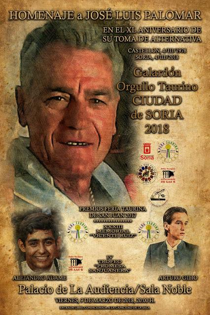 SORIA (ESPAÑA) 09-03-2018. HOMENAJE A MAESTRO JOSÉ LUIS PALOMAR.