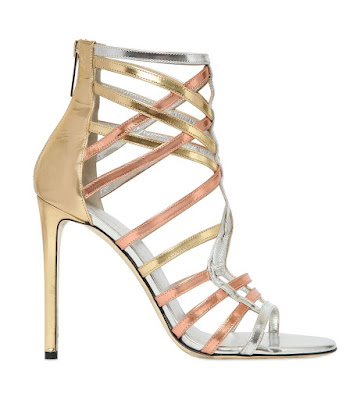 Tamara Mellon metallic high heeled stilettos