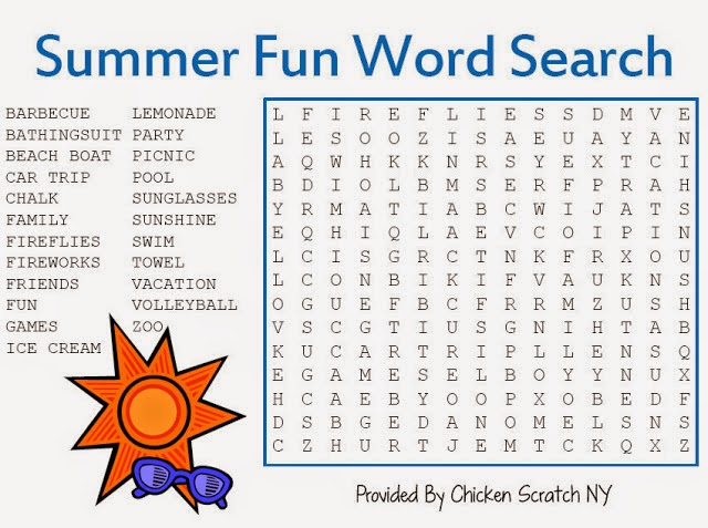 Top 10 Free and Printable Summer Word Searches that you can use – Free Word Search Worksheets