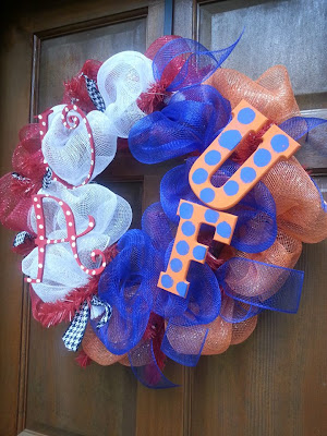 alabama florida house divided wreath