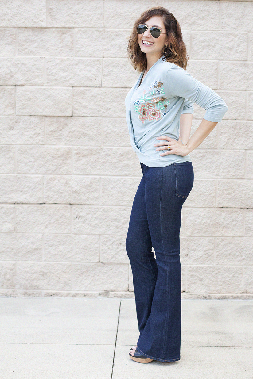 Amy West in Flare leg jeans from Anthropologie by Citizens of Humanity