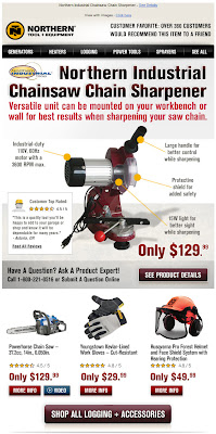 Click to view this Oct. 3, 2011 Northern Tool email full-sized