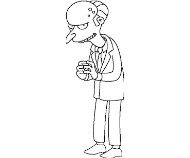 #9 The Simpsons Coloring Page